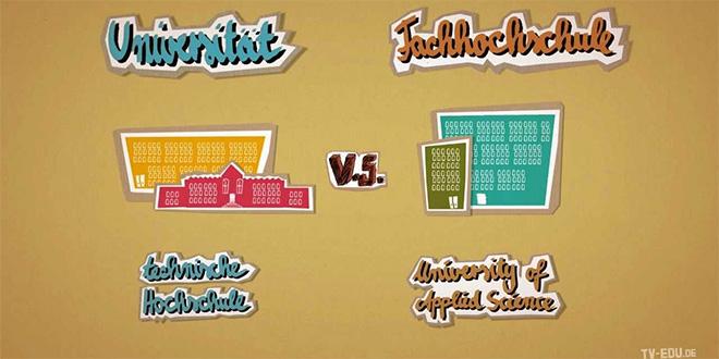 Различия между Universität и Fachhochschule