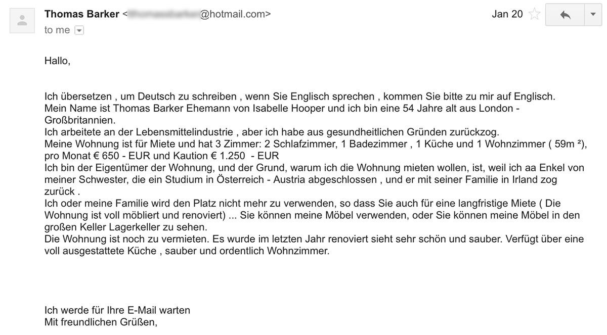 Квартирные мошенники в Австрии — как не дать себя одурачить