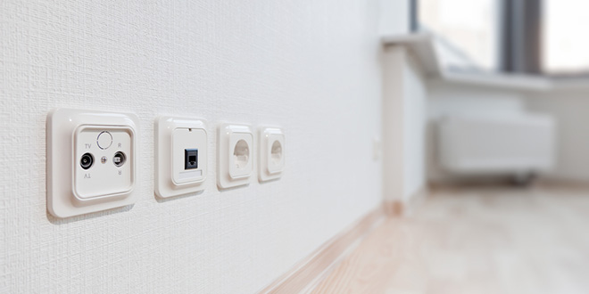 Электро- и Интернет-розетки в квартире